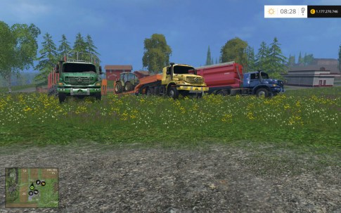 Мод Mercedes Zetros v 2.0 для Farming Simulator 2015