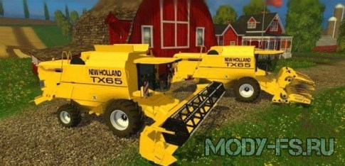 Комбайн New Holland TX65 для Farming Simulator 2015