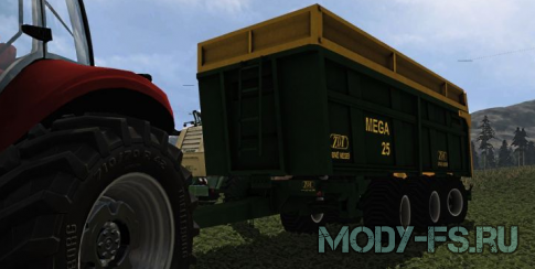 Прицеп ZDT MEGA 25 V 1.0 для Farming Simulator 2015