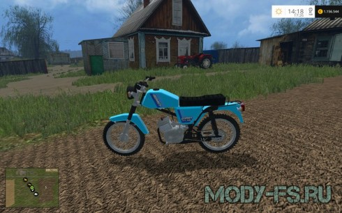 Мод мопед Romet Chart 50 для Farming Simulator 2015