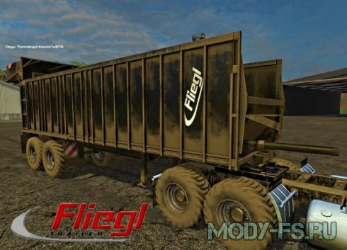 Мод прицеп Fluegl Wood для Farming Simulator 2015