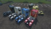 Мод тягач Lantmannen Scania 730 для Farming Simulator 15