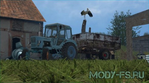 Мод прицеп EB7 70 WooD SM для Farming Simulator 2015