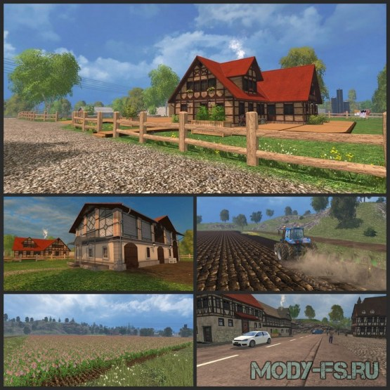 Карта Хагенштедт для Farming Simulator 2015