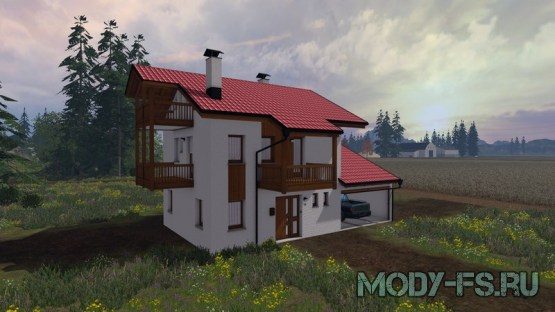 Мод Дом с гаражом для Farming Simulator 2015