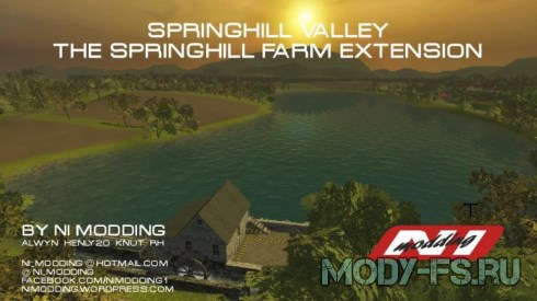 Мод карты фермы Спрингхилл v1.0 для Farming simulator 2015