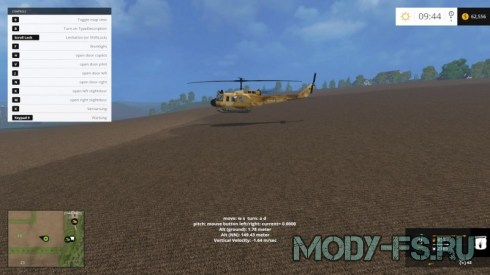 Мод вертолета Crop Duster Bell UH1D v1.0 для FS 2015