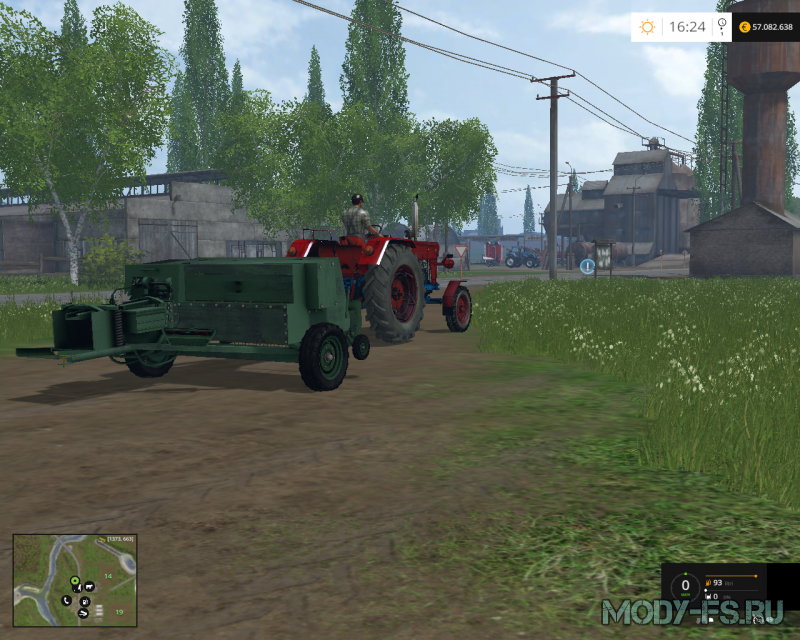 Мод вспашки Baller- Balotiera Romaneasca для Farming simulator 2015