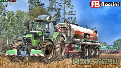 Мод трактора Deutz Fahr TTV 7250 для Farming simulator 2015