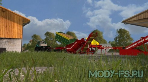Мод немецкой северной карты для Farming simulator 2015