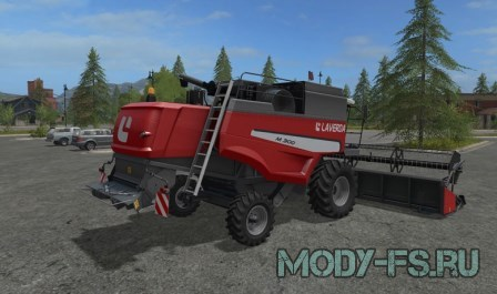 Мод силосного комбайна  LAVERDA M300 V 1.0 для  игры farming simulator 2017