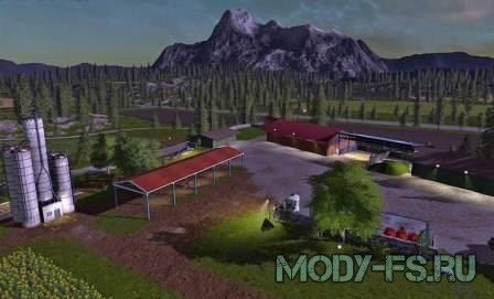Скачать карту для игры farming simulator 2017,  NORGECREST VALLEY MAP V 1.0