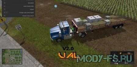 Прицеп сена farming simulator 2017,  US TRAILER WITH AUTOLOAD FEATURES V 2.0