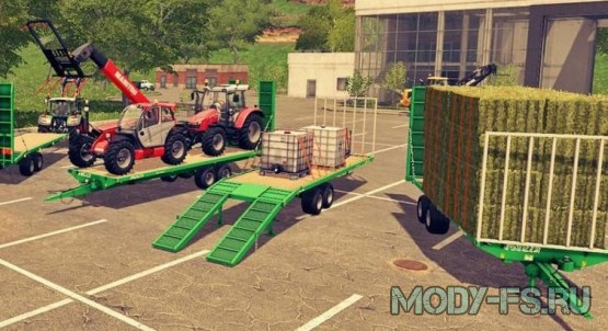 Прицеп для перевозки поддонов farming simulator 2017,  JOSKIN WAGO 8M AND 10M LOADER TRAILERS V 1.0